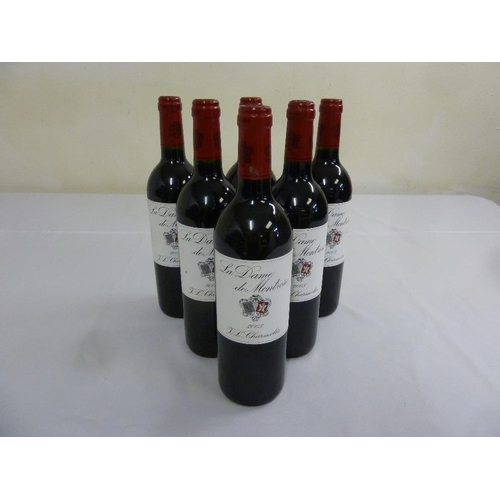 246 - La Dame de Montrose Saint-Estephe 2003, 2nd wine of Chateau Montrose, six 75cl bottles...
