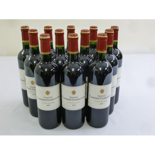 247 - Chateau Capbern Gasqueton Saint-Estephe 1 x 2009 and 11 x 2010 2nd wine of Chateau Calon Segur...