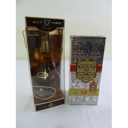 258 - Glengoyne 17 year old single malt whisky  and Chivas Regal 12 year old whisky, both in original pack...