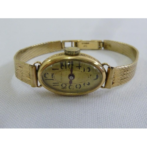 278 - 9ct yellow gold Eterna ladies wristwatch, approx 17.7g...