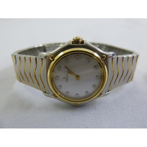279 - Ebel ladies stainless steel and gold plated wristwatch...