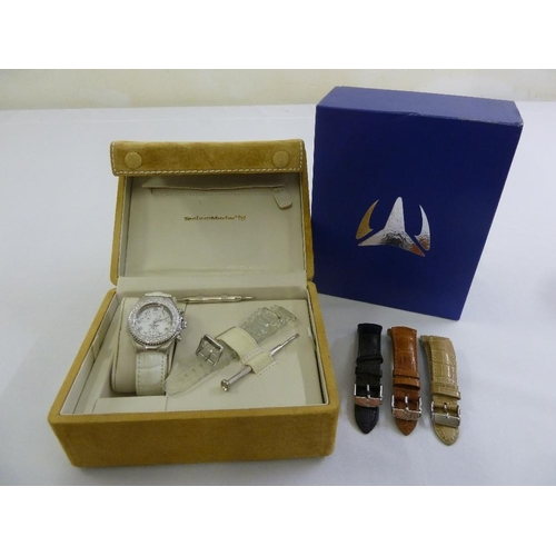 280 - Technomarine ladies wristwatch with replacement interchangeable bracelets, to include original case...
