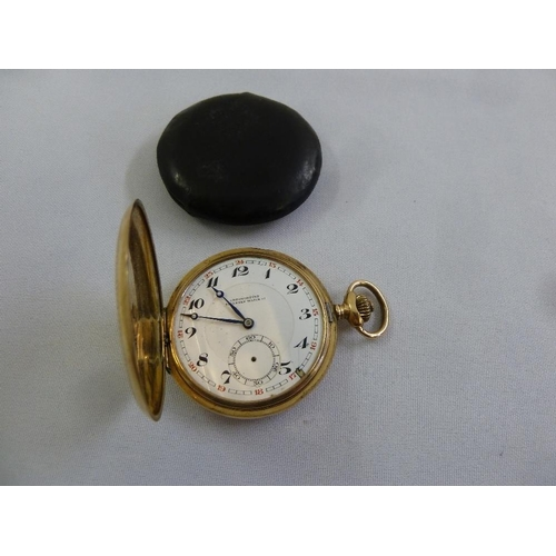 281 - 14ct gold pocket watch, approx 77.0g...