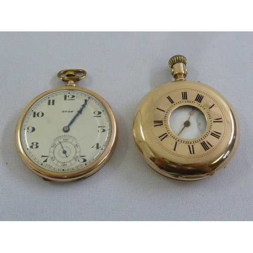 282 - Two gold plated pocket watches...