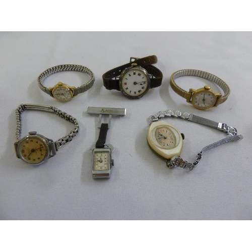 283 - A quantity of ladies and gentlemans wristwatches (6)...