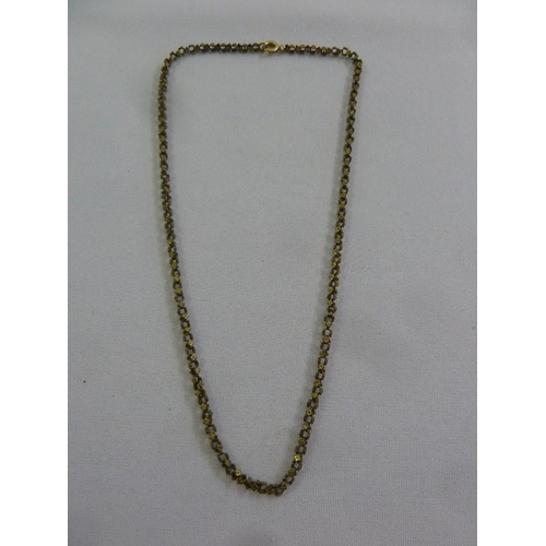 305 - A gold fancy link necklace, tested 9ct, approx 10g...