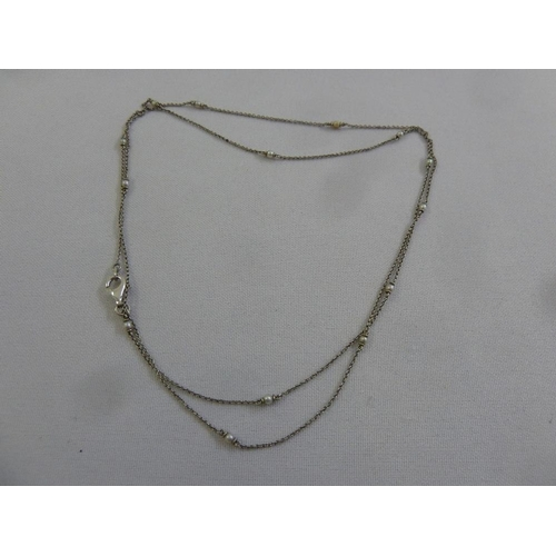 308 - A platinum and seed pearl necklace, approx 6.4g...