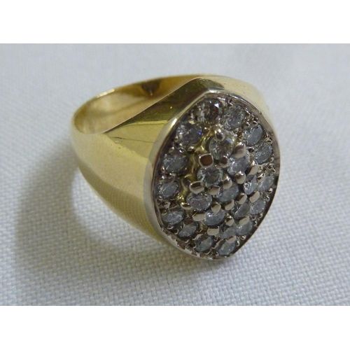 339 - 18ct yellow gold and diamond dress ring...