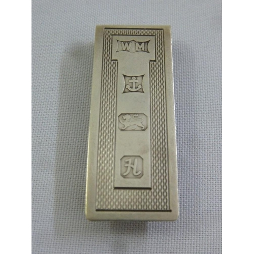 406 - A silver hallmarked money clip...