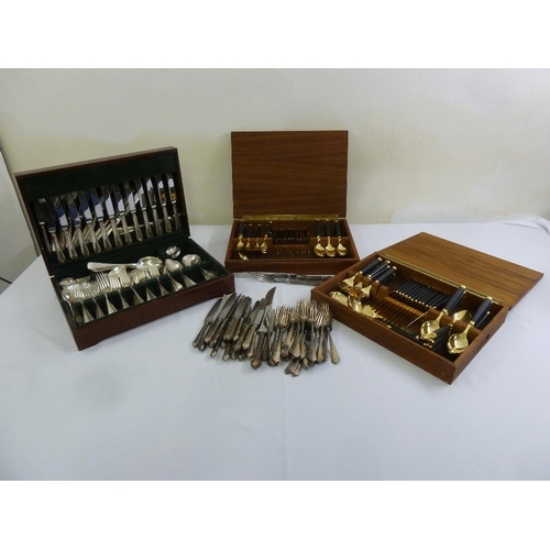 414 - A quantity of silver plated flatware some in fitted cases...