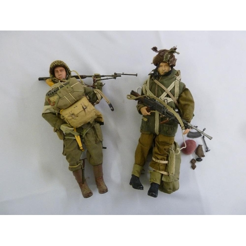 420 - Two Action man figurines in combat dress to include accessories...