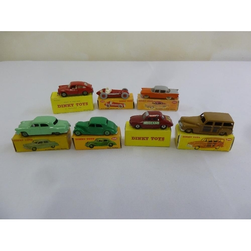 428 - A quantity of Dinky diecast to include 163 Volkswagen 1600, 232 Alfa Romeo racing car, 180 Packard C...