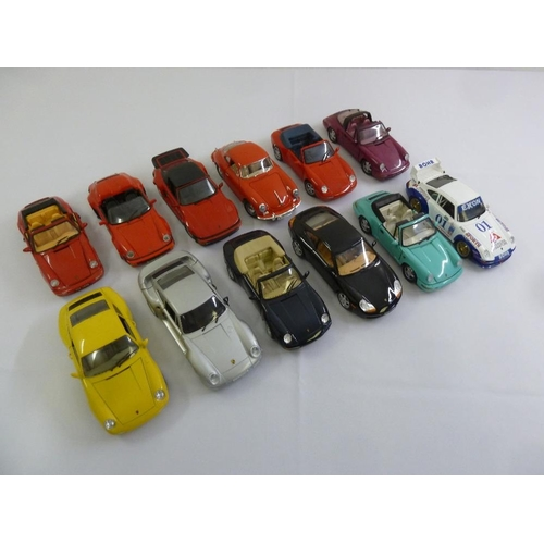 433 - A quantity of diecast model cars to include Burago, Anson, Maisto, and Polistil  (12)...