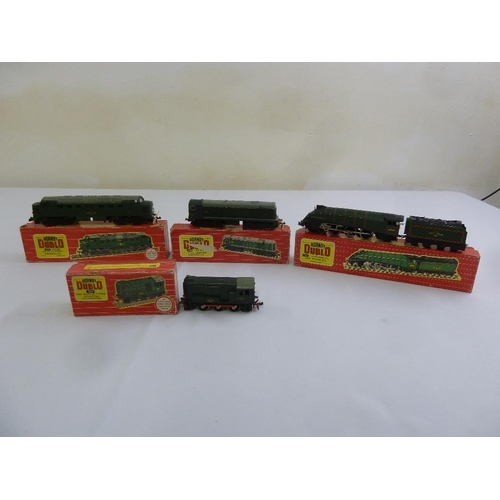 440 - Four Hornby Dublo locomotives all in original packaging (tested to run)...