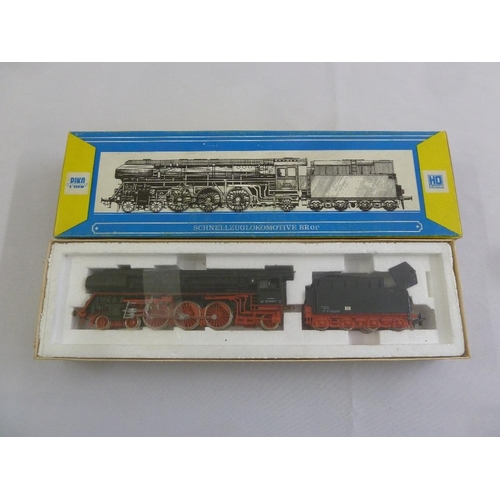 449 - Piko HO gauge BR01/5 locomotive and tender, as new in original packaging...