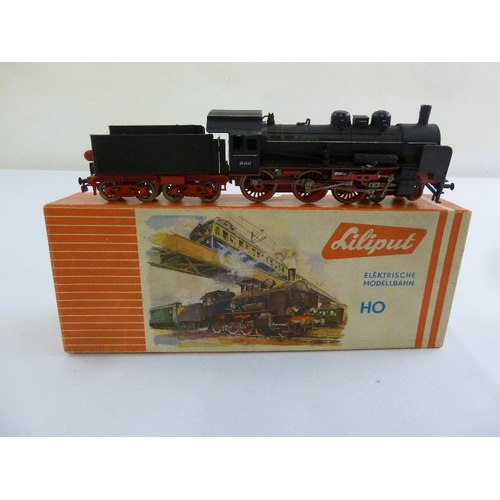 453 - Liliput HO gauge 102 locomotive and tender, in original packaging...