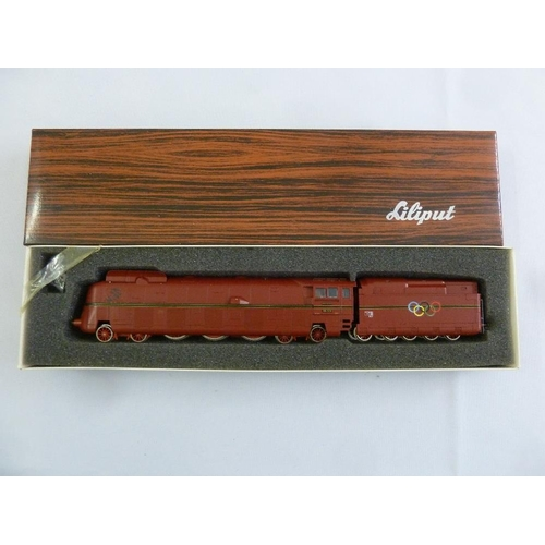 456 - Liliput HO gauge 10501 locomotive and tender, mint condition in original packaging...