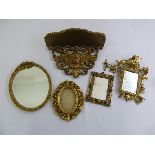 56 - A quantity of gilded mirrors and frames (5)...