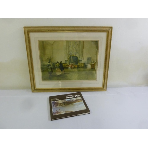 61 - Russell Flint framed and glazed lithographic print, Argument On Ballet, stamped and signed and to in...