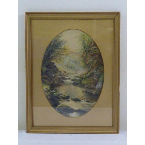 70 - Frank Buckley framed and glazed watercolour of a river and forest scene, signed and dated bottom lef...