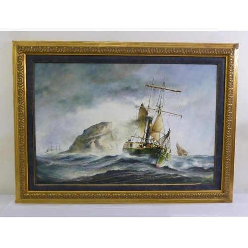 75 - Gary Winter (Australian artist) framed maritime scene, signed bottom left, 61 x 91cm...