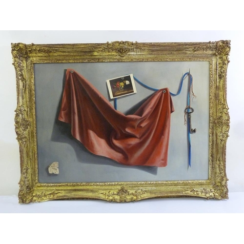 77 - Arcangelo Maraga framed oil on canvas still life, signed bottom left and dated 1966, 67.5 x 97cm...