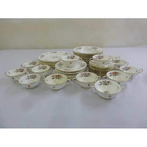 92 - Minton Marlow part dinner service to include dinner plates side plates, soup bowls, A/F (52)...