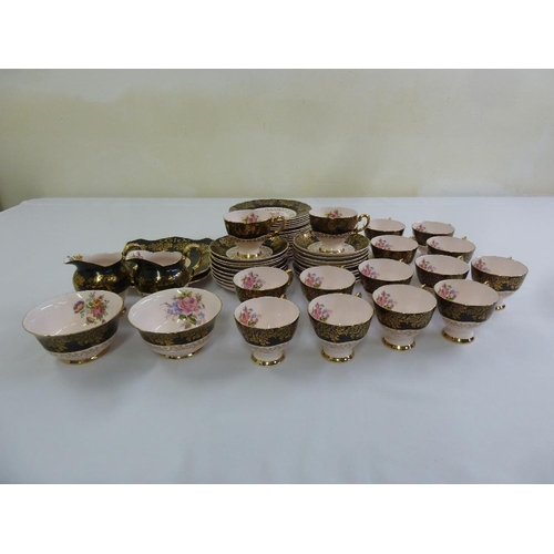 93 - Tuscan bone china tea service to include plates, cups and saucers (58)...