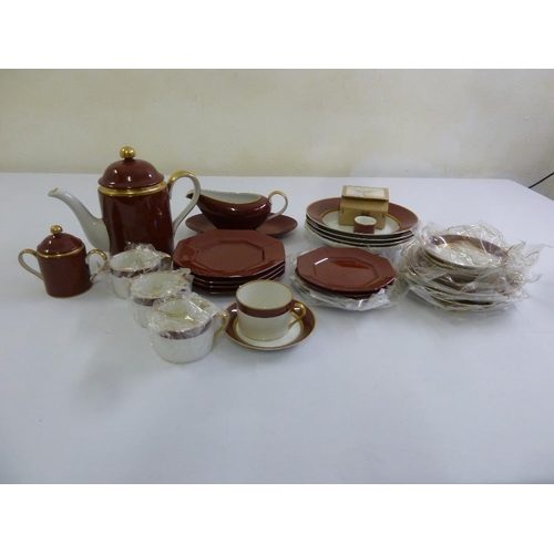 94 - Fitz and Floyd Renaissance part tea service to include a teapot, and side plates (33)...