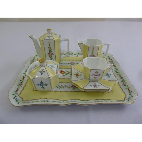 98 - Limoges tea for two to include tray, teapot and cream jug...
