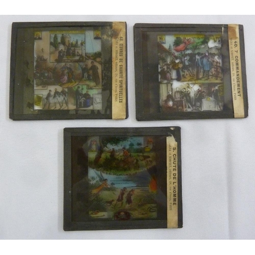 278 - Three French colour magic lantern slides by Tolra & Simonet of Paris...