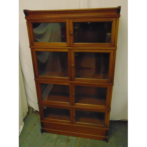 2 - An early 20th century Globe Wernicke style mahogany glazed bookcase by Simpoles of Manchester and Li...