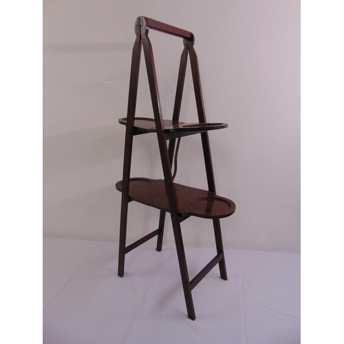 47 - A mahogany A frame double sided plate stand...