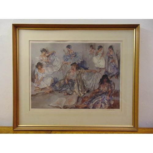 37 - William Russel Flint framed and glazed polychromatic lithograph of ladies signed bottom right, blind...
