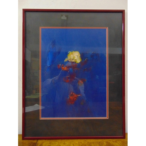 111 - Tom Nash framed and glazed oil on canvas abstract forms signed bottom right, 47 x 34.5cm...