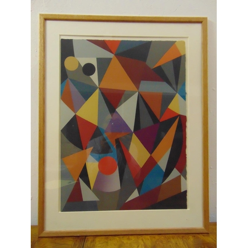 32 - C. Goran Karlsson framed and glazed limited edition screen print abstract 89/200, signed bottom righ...