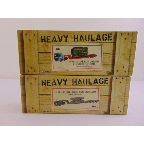 474 - Corgi Heavy Haulage CC11909 ERF EC low loader & steel casting load Bowring Transport Ltd and CC13213...