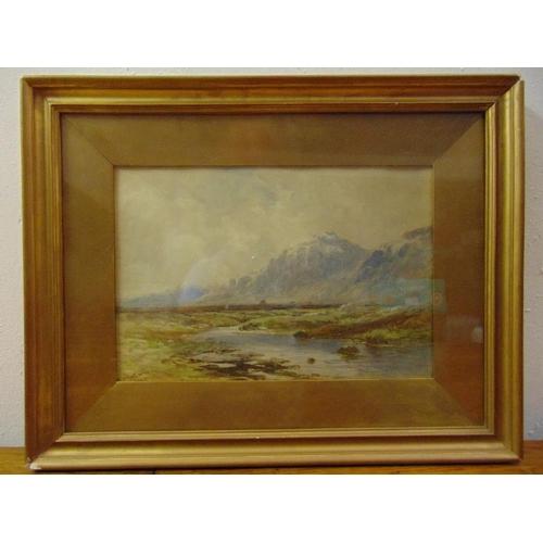 48 - Finlay McKinnon framed and glazed watercolour of a Highland scene, signed bottom left, 23 x 34cm...