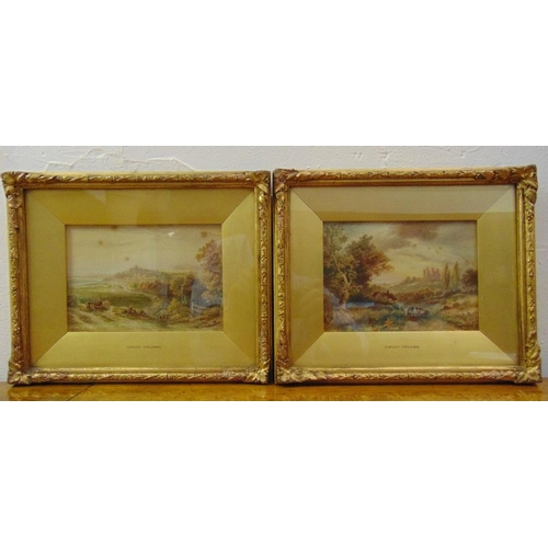 49 - Anthony Vandye Copley Fielding two framed and glazed watercolours titled Rye Sussex and Llansteffan ...