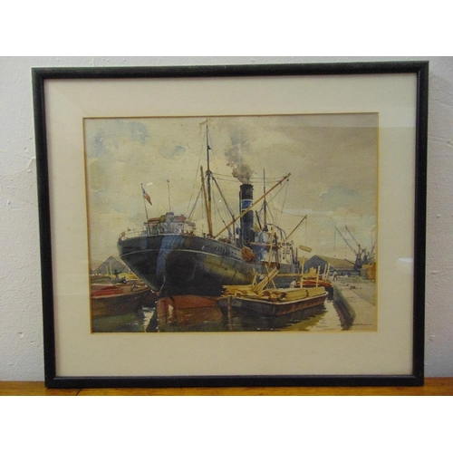 51 - Henry James Denham a pair of framed and glazed watercolours of marine scenes, 29 x 39cm and 27 x 36c...