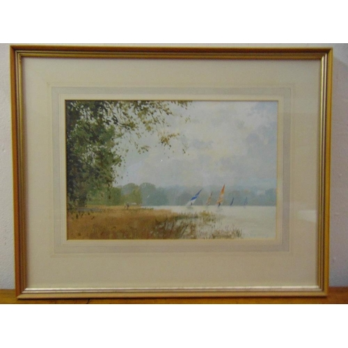 54 - Roy Perry framed and glazed watercolour titled Summers Day Ruislip, signed bottom right, 24.5 x 37cm...
