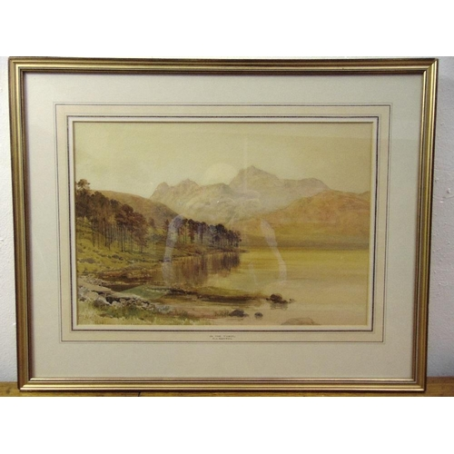60 - P.J. Naftel framed and glazed watercolour titled In the Tyrol, signed and dated bottom left, 31 x 45...