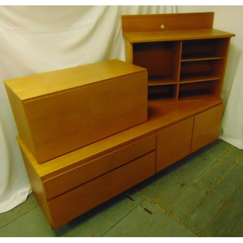 10 - Tapley 33 teak wall unit and shelves circa 1970...