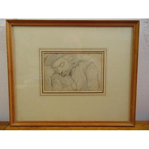 56 - C. Cruikshank framed and glazed pencil drawing of a gentleman, 11 x 16.5cm...