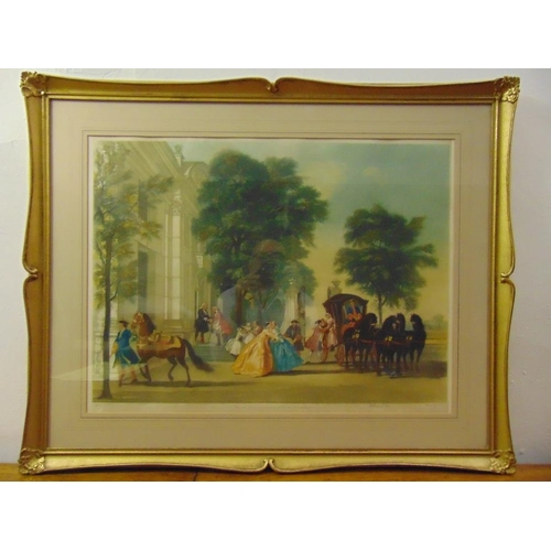 53 - Arthur L. Cox framed and glazed polychromatic limited edition lithographic print titled Guest Arrivi...