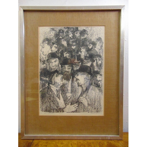 56 - Anatolij Lvovic Kaplan 1902-1980 framed and glazed monochromatic limited edition lithograph 93/125, ...