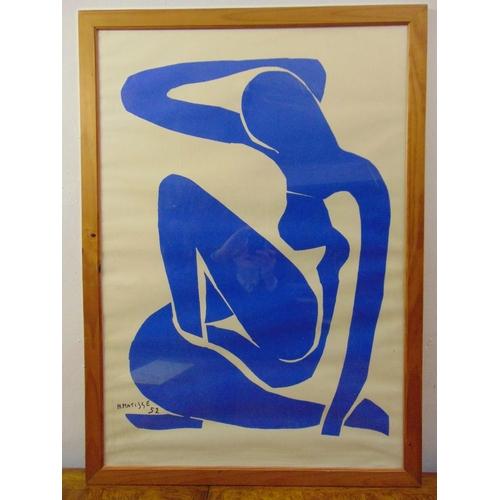 52 - Henri Matisse framed and glazed silkscreen print of a female form, signed bottom left, 98 x 68cm...