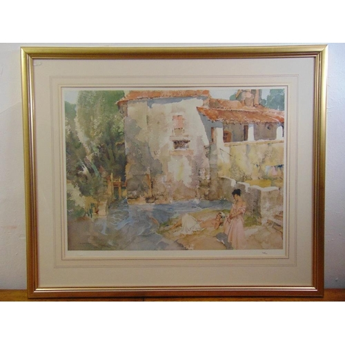 55 - William Russell Flint framed and glazed lithographic print, signed bottom right, 53.5 x 70.5cm...