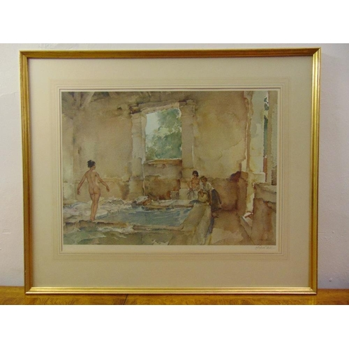 57 - William Russell Flint framed and glazed polychromatic lithographic print titled Cecilia in the Wash ...