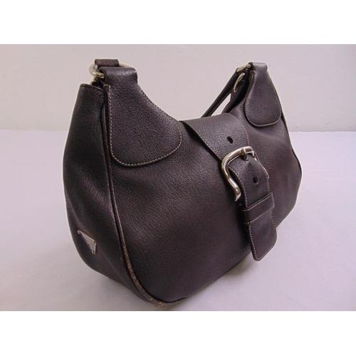 218 - Prada brown leather ladies handbag with shoulder strap...